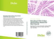 Обложка Broadcast Film Critics Association Award for Best Sound
