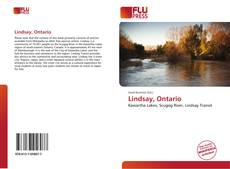 Bookcover of Lindsay, Ontario