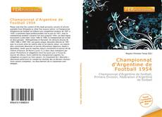 Bookcover of Championnat d'Argentine de Football 1954