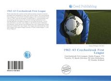 Bookcover of 1962–63 Czechoslovak First League