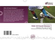 Capa do livro de 1932–33 French Division 1