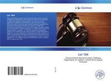 Bookcover of Loi 104