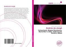 Andrée de Jongh kitap kapağı