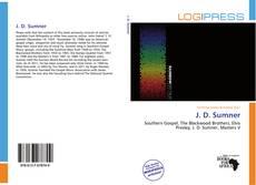 Bookcover of J. D. Sumner