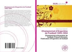 Bookcover of Championnat d'Argentine de Football 1993-1994