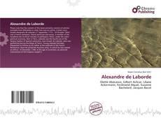 Buchcover von Alexandre de Laborde