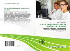 Bookcover of Loi de programme pour la recherche de 2006