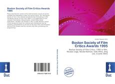 Bookcover of Boston Society of Film Critics Awards 1995