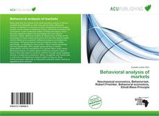 Bookcover of Behavioral analysis of markets