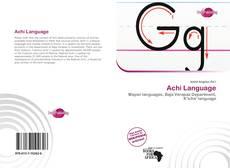 Achi Language的封面