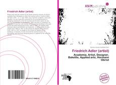 Bookcover of Friedrich Adler (artist)