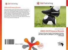 Bookcover of 2003–04 Primera Divisió