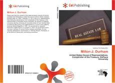 Bookcover of Milton J. Durham