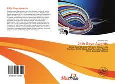 24th Goya Awards kitap kapağı