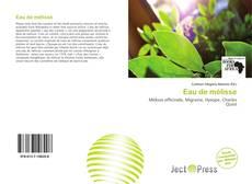 Bookcover of Eau de mélisse