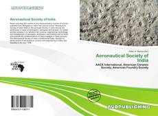 Bookcover of Aeronautical Society of India