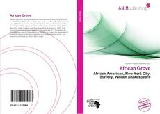 Bookcover of African Grove
