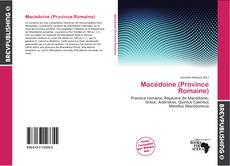 Portada del libro de Macédoine (Province Romaine)