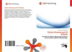 Обложка Victor-Emmanuel III d'Italie