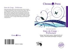 Gare de Cergy – Préfecture kitap kapağı