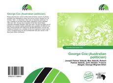 Buchcover von George Cox (Australian politician)