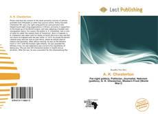 A. K. Chesterton kitap kapağı