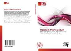 Bookcover of Hossbach Memorandum