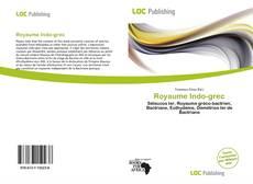 Buchcover von Royaume Indo-grec