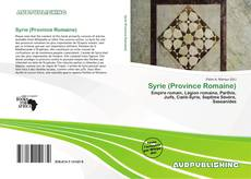 Bookcover of Syrie (Province Romaine)