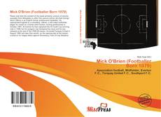Bookcover of Mick O'Brien (Footballer Born 1979)