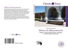 Abbaye de Moyenmoutier kitap kapağı