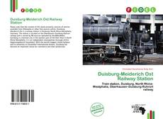 Bookcover of Duisburg-Meiderich Ost Railway Station