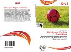 Portada del libro de Mick Lyons (English Footballer)