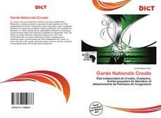 Capa do livro de Garde Nationale Croate