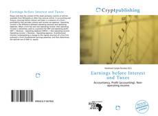 Capa do livro de Earnings before Interest and Taxes