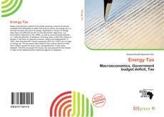 Bookcover of Energy Tax
