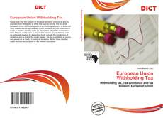 Portada del libro de European Union Withholding Tax