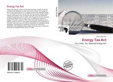 Bookcover of Energy Tax Act