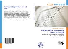 Buchcover von Income and Corporation Taxes Act 1988