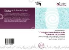 Buchcover von Championnat de Grèce de Football 2005-2006