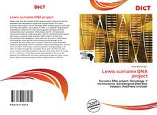 Copertina di Lewis surname DNA project