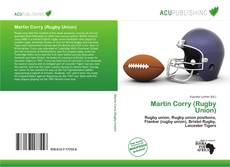 Portada del libro de Martin Corry (Rugby Union)