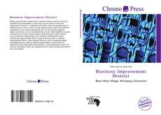 Bookcover of Business Improvement District
