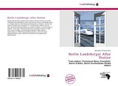 Couverture de Berlin Landsberger Allee Station