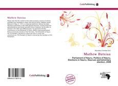 Buchcover von Mathew Batsiua