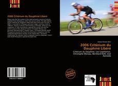 Borítókép a  2006 Critérium du Dauphiné Libéré - hoz