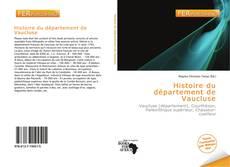 Portada del libro de Histoire du département de Vaucluse