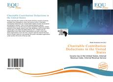 Capa do livro de Charitable Contribution Deductions in the United States