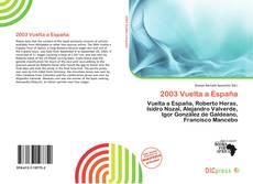 Bookcover of 2003 Vuelta a España