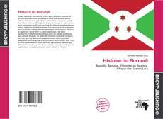 Couverture de Histoire du Burundi